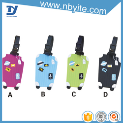 original designed luggage tag small plastic hanger