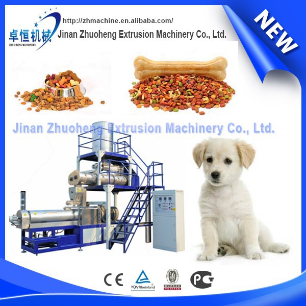 Multi-fonction stuff pet food/animal feed processing line