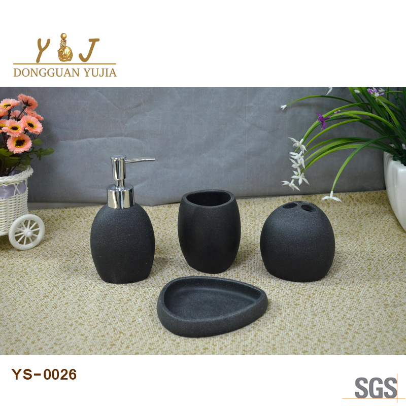 stone resin effect washroom accessories set hotel bathroom accessories