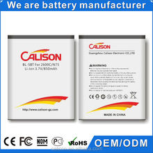 850mAh Mobile Phone Battery Rechargeable Battery for Nokia BL-5BT