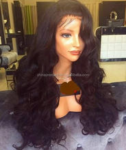 24 Inch 200% Density Big Body Wave 100% Indian Remy Hair Glueless Lace Front Wig In Stock