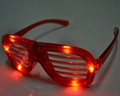 4pcs color LED light shutter glasses