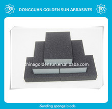 abrasive sponge sanding blocks for glass polishing and grinding