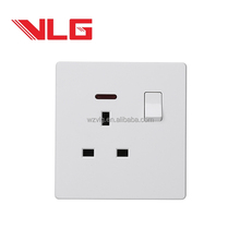 single 13A switched socket with neon