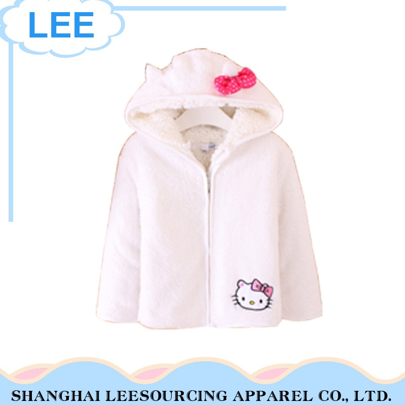 Newest Arrival 100% Cotton White Children Hoodie Clothing