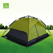 2017 Trending Products Double Layer 3 or 4 Person Waterproof Custom Outdoor Automatic Family Camping Tent