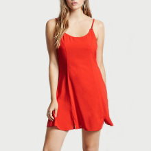 women clothing wholesale customize new fashion indian ladies swing skater dress with T-shirt overlay