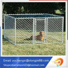 7.5' x7.5' x4' large galvanized chain link mesh outdoor large dog run kennel with cover