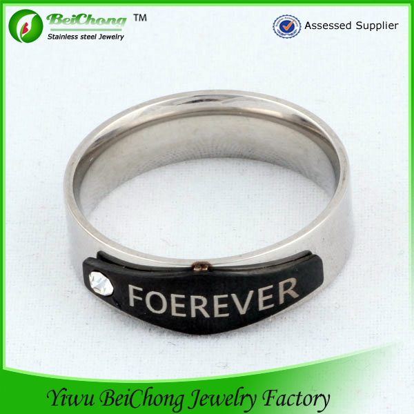 Jewelry surgical steel stainless steel jewelry sets fashion letter engagement ring diamond ring for sale