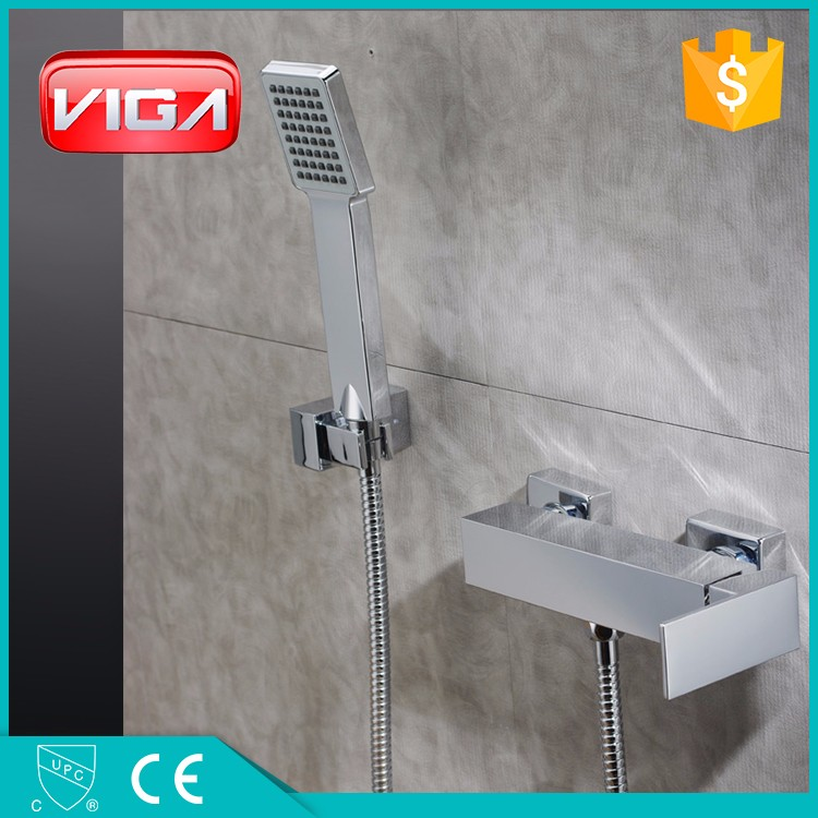 exposed copper brass rain shower faucet manufacturer