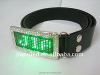 2016 belts with changeable buckles,PU belt with LED Buckle with high quality