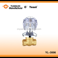 "YL-3003 hot sale durable wholesale price gate valve brass 1/2""-1"" flow control water valve"
