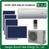 Lowest price total off grid solar powered through the wall air conditioner
