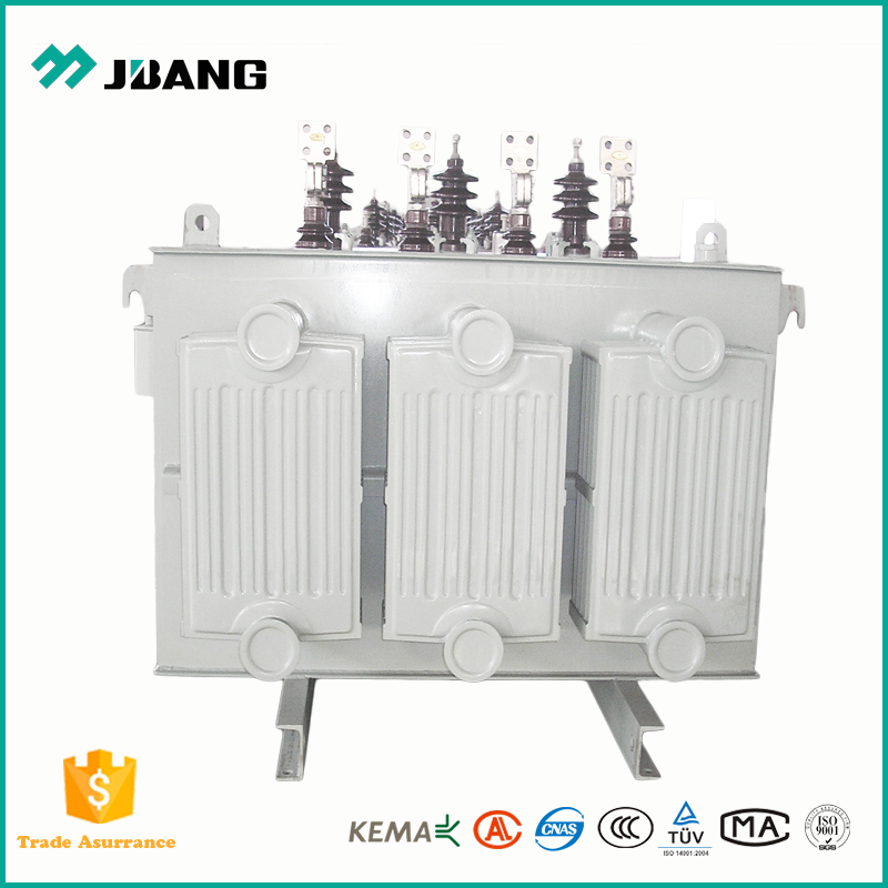 160KVA 11kv 415v 3 phase oil immersed electronic power distribution transformer with amorphous metal core copper winding
