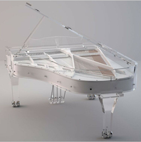 OEM keyboard musical instruments, acrylic piano with LED light, custom crystal grand piano for sale
