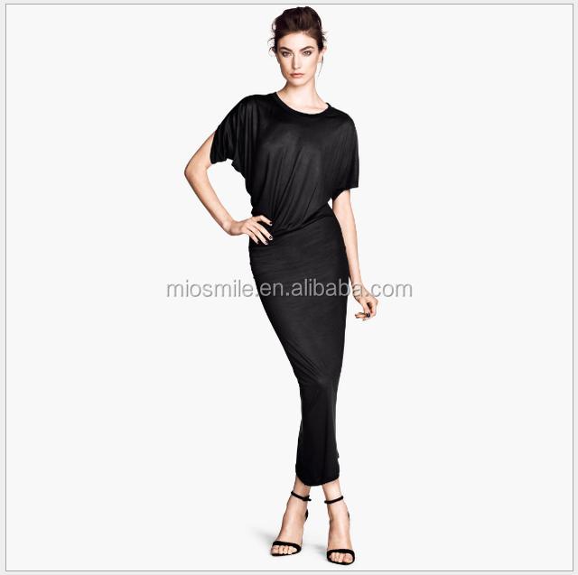 S30928A Women's high end glossy maxi dress irregular tailor high elastic bodycon knitted dress