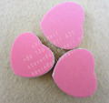 heart shape EVA nail file with pink color