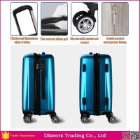 Manufacture price abs aluminum frame travel suitcase laptop waterproof travel suitcase wholesales