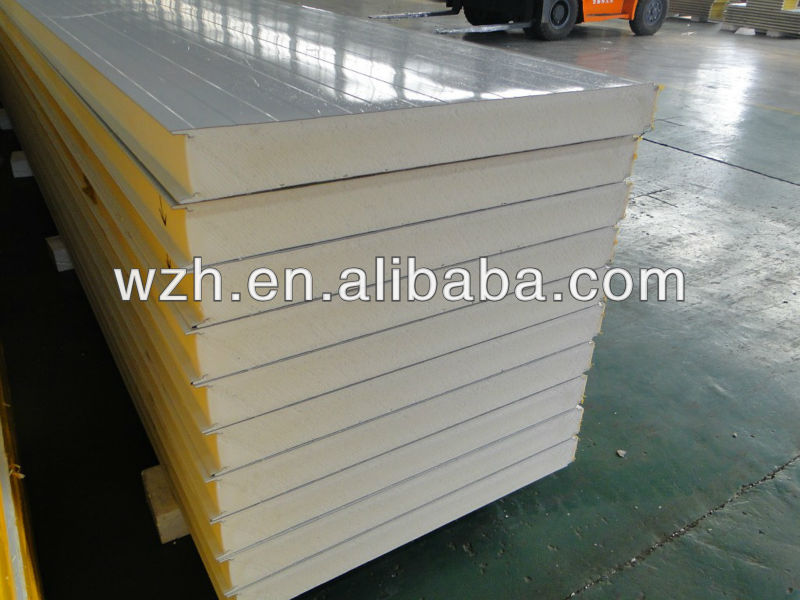 china pu sandwich panel price/polyurethane insulating panels