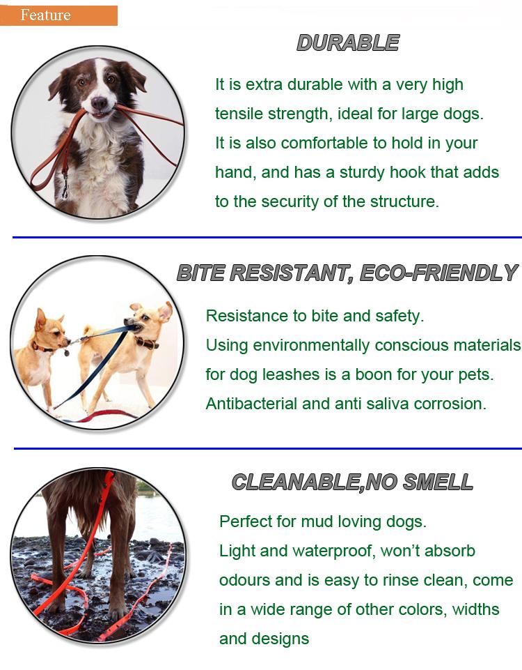 Punho plástico Personalizado PVC Trela Do Cão Personalizado