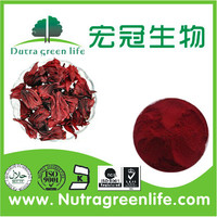 Roselle calyx Extract diminish heat inflammation.help produce saliva and slake thirst,Wake the head to tranquilize the nerves