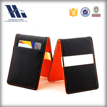 OEM Leather Card Holder RFID Money Clip Leather Wallet Men