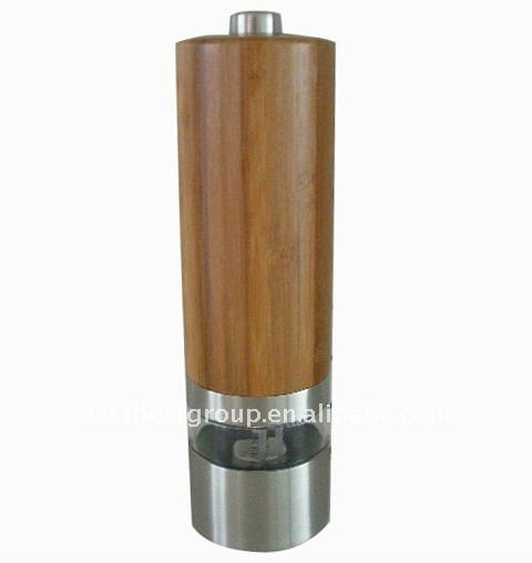Bamboo Automatic Salt and Pepper Mill Model commercial electric corn mill grinder
