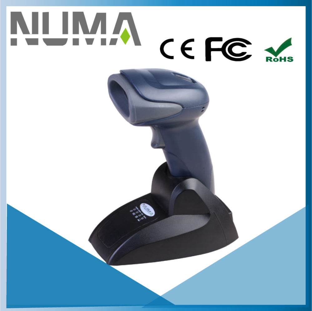 Gun Shape Bluetooth Wireless CCD Barcode Scanner for Inventory and Company
