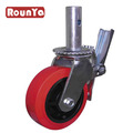 Scaffolding Caster wheel with Red Polyurethane