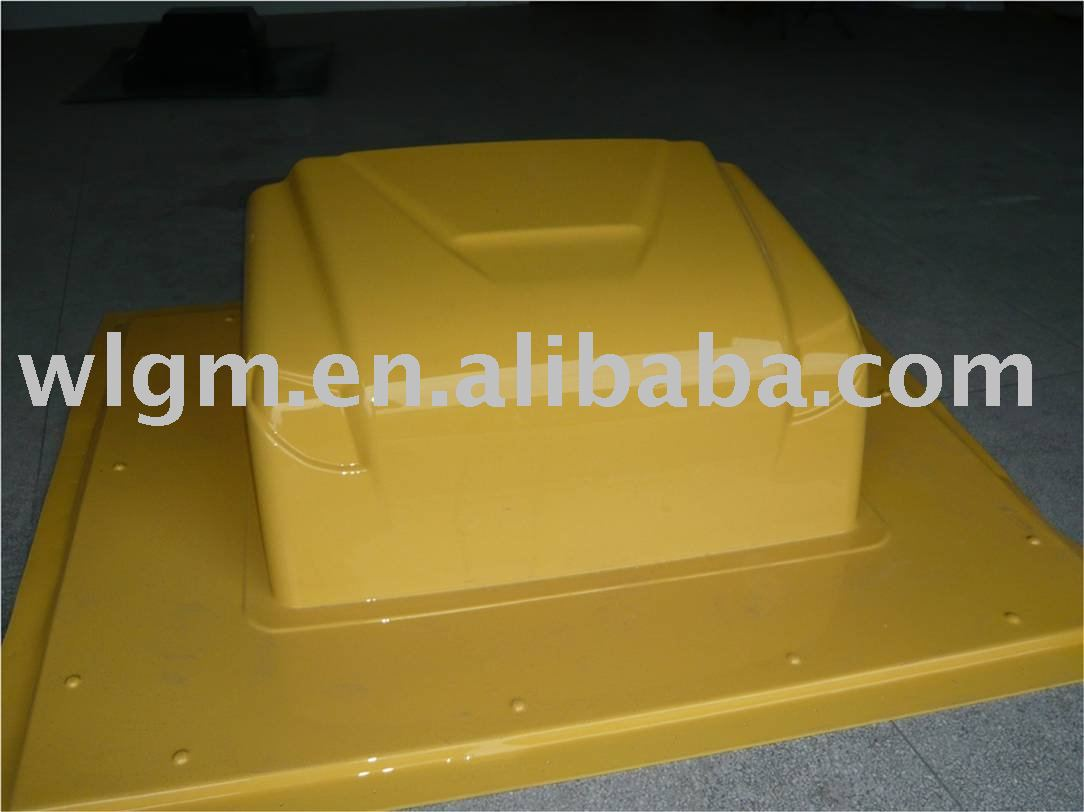 plastic body cover of thick sheet vacuum forming