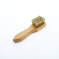 Horse hair custom wooden handle shoe brush shoes women