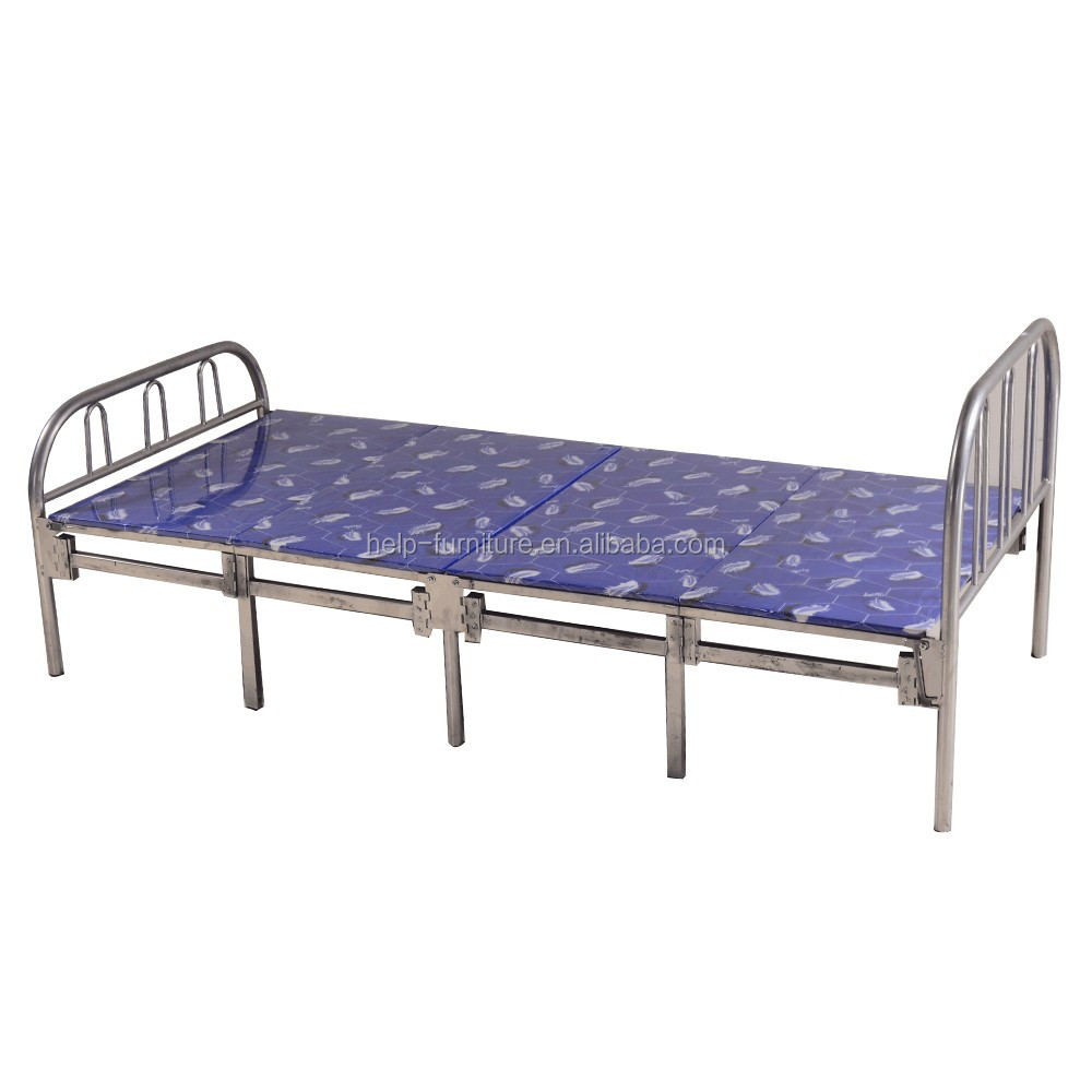 Cheap Price Folding Metal Bunk Bed for Refugee