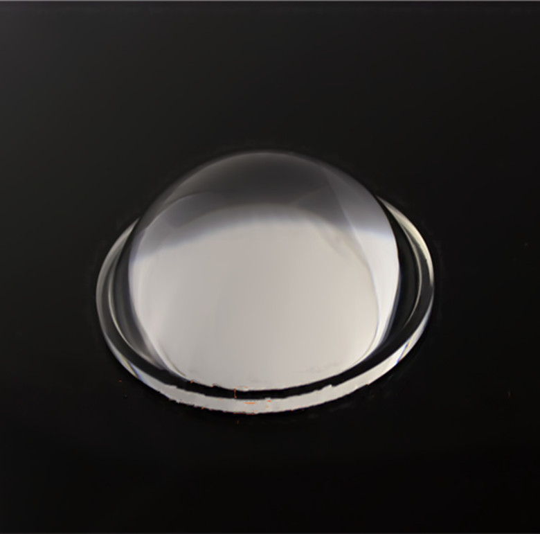optical glass components spherical 90 degree cob led lens for clu038