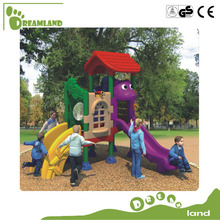 Funny outdoor children plastic playhouse and slide