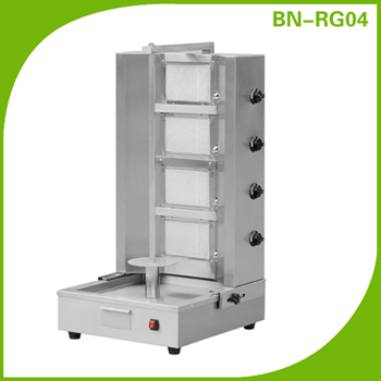 Commercial shawarma machine doner kebab grill with 4 gas burner BN-RG04