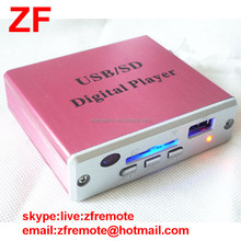 Nice Black Mini thin 21 keys Remote Control RD-001for Pink USB SD Digital Player MP3 decoder audio player with button Batteries
