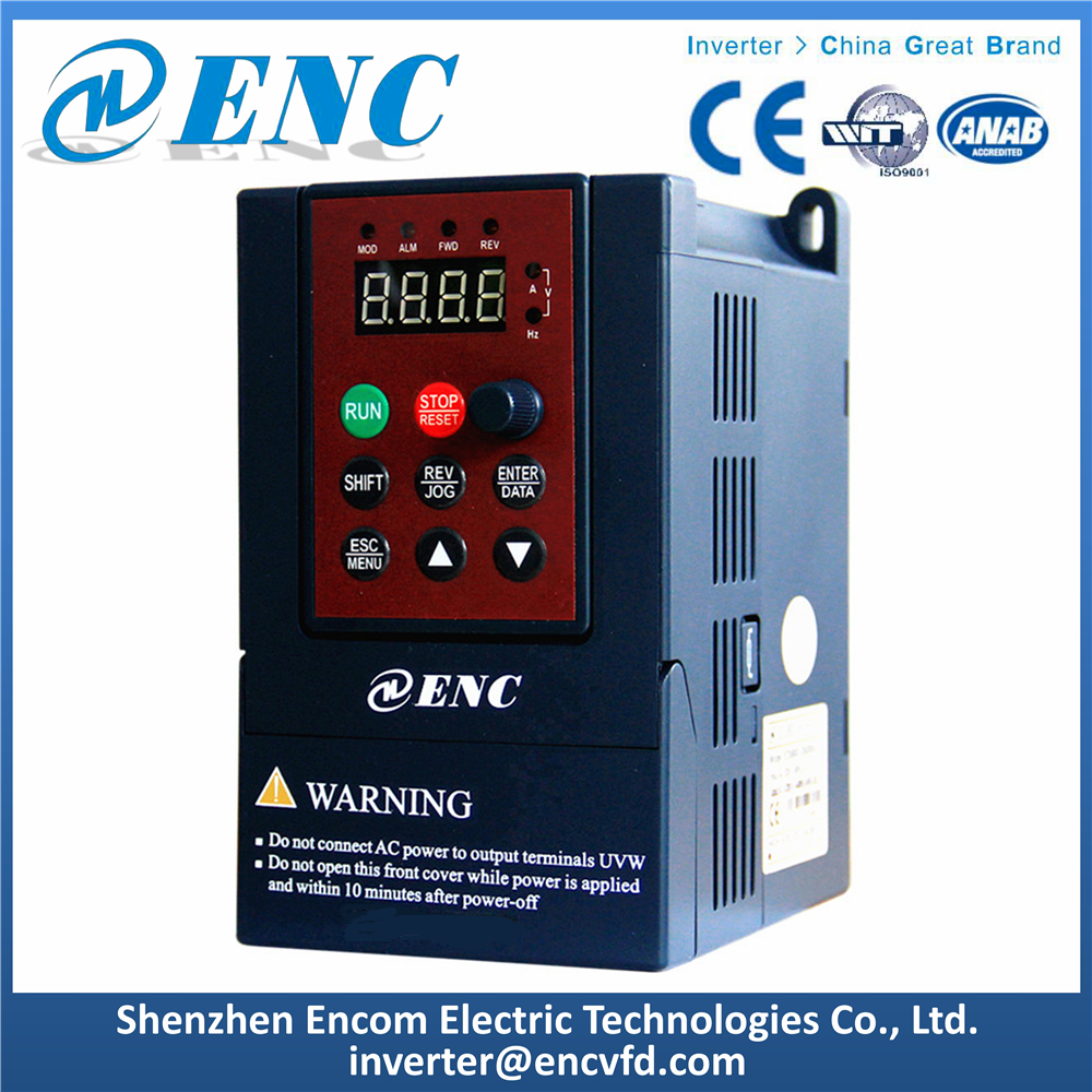 3 Phase Inverter 0.75kW V/F Control VFD for Water Pump