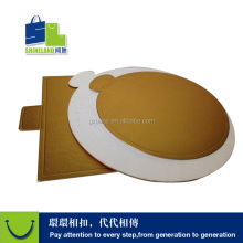 custom cake support paper tray gold laminated