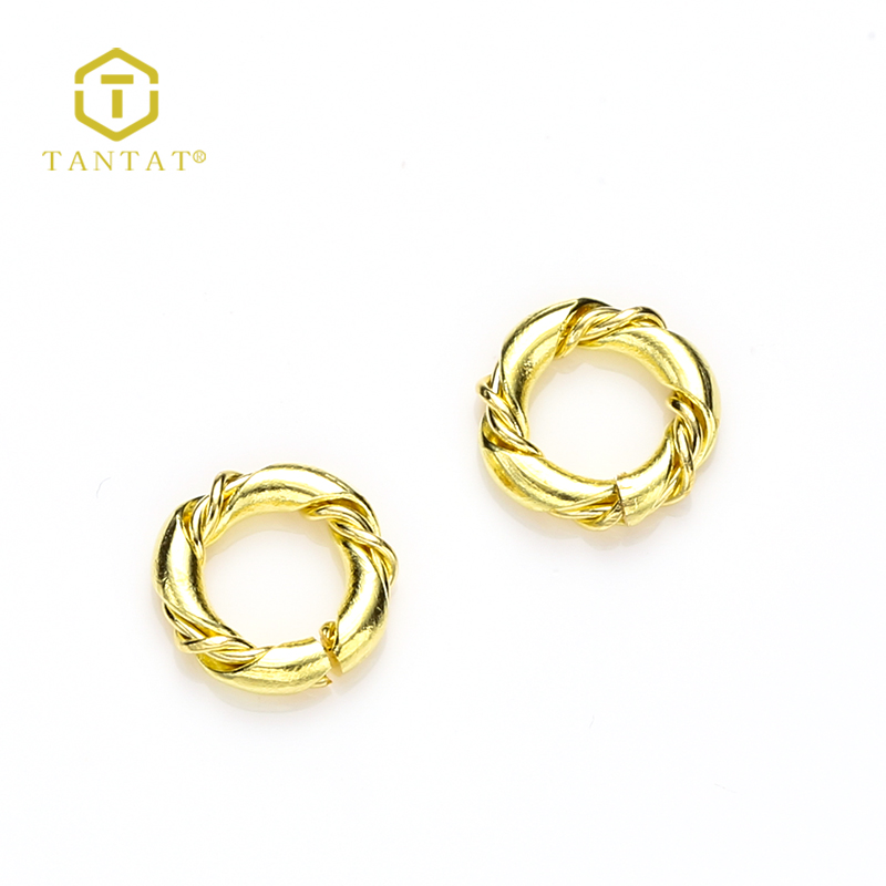 Factory Supply Jewelry Making Connectors Brass Closed Jump Rings