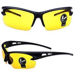 Yellow lenses night driving glasses
