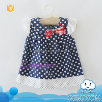 Factory price 2016 innovative product polka dot kids beautiful model new picture fashion short summer dresses for 2-7 years old