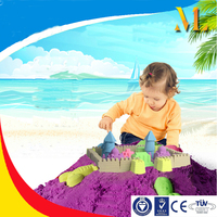 Children's educational indoor toys environmental paly sand magic modeling sand 2KG in plastic box for Christmas Gift