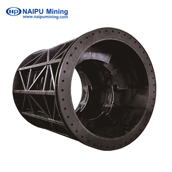Rubber trommel screen with wear resistant quality for mine  site