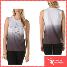 2015 casual camouflage sleeveless t shirt hang dye women summer vest