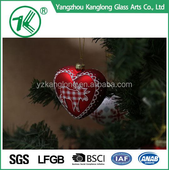 wholesale Custom hand painted glass christmas ornaments ball for christmas tree decoration