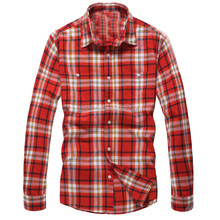 Wholesale men slim fit shirts western flannel shirt winter