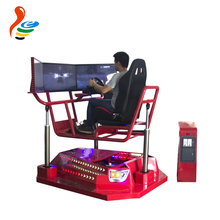 3 screens 3 axis coin operated real driving feeling motion racing car driving simulator
