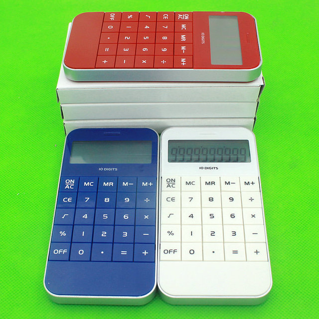 10 Digital Backlight Apple Square Shape Desktop Calculator As Business Gift With Your Logo