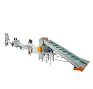 Union pp pe pet crusher washing drying pelletizing machine for recycling plastic