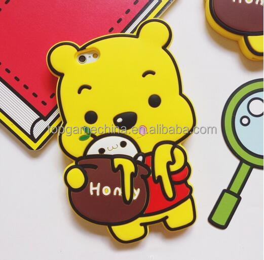soft silicone cover for ipone 7 case ,for ipone 7 Winnie Pooh case